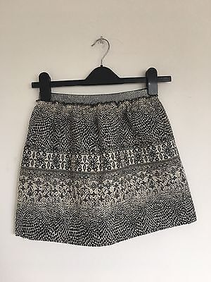 ZARA Girls Casual Collection Black Sparkly Skirt 13-14. Years New