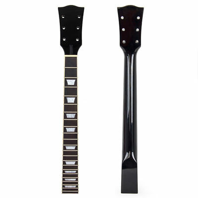 Electric Guitar Neck for Guitar Parts Replacement Maple 22 Fret Black