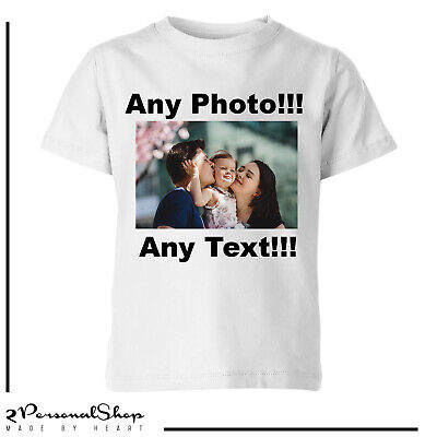 Personalised Photo T shirt  Printed Custom Text Women Men Kids Stag do Hen Party