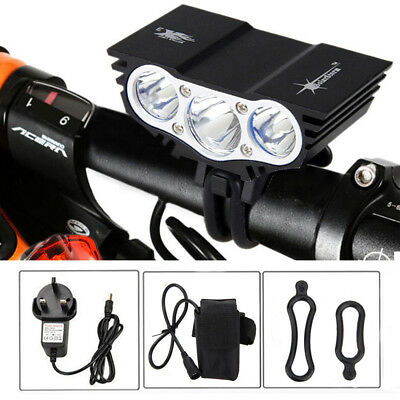 SolarStorm 20000LM LED X2/X3 Bicycle Light Headlight Battery Charger Rear Lamp