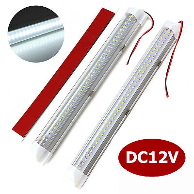 2X 72 LED Interior Light Strip Bar Car Van Bus Caravan Camper ON/OFF Switch 12V