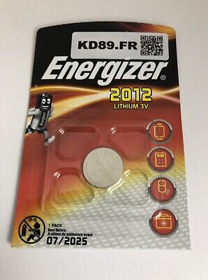pile energizer CR 2012 lithium 3 v clef voiture Seiko montre Val Juil 2026