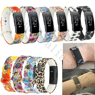 Silicone Wrist Band For Fitbit Inspire HR / Inspire Smart Watch Printed Strap US