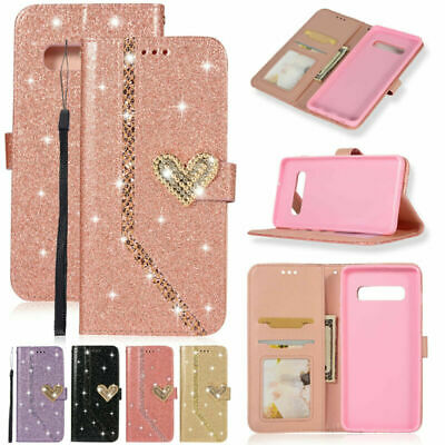 Luxury Bling Glitter Leather Card Wallet Case For Samsung Galaxy S10 Plus S10e