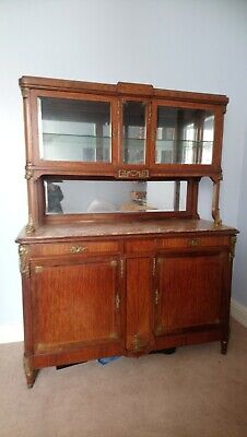 Antique French Marble Topped buffet, Sideboard ormolu cabinet /cupboard, dresser