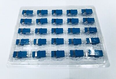 100 Corning LC-LC Duplex Optical Fiber Optic Cable Coupler Adapter Connector