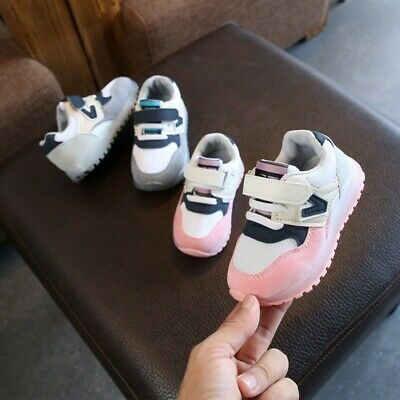 Toddler Baby Kids Girls Light Up PU Shoes LED Flashing Trainers  Sneakers  AU
