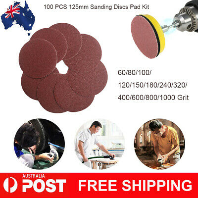 100 PCS Sanding Discs Pad Kit for Drill Grinder Rotary Tools 60-1000 Grit C0L9