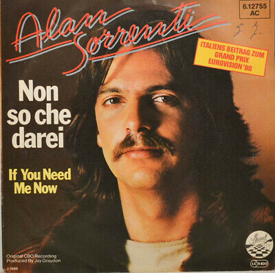 "ALAN SORRENTI - non So Che Darei - If You Need Me Now - 7"" (L375)"