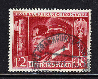 Germany Third Reich 1941 Hitler + Mussolini Michel 763 Scott B 189 USED