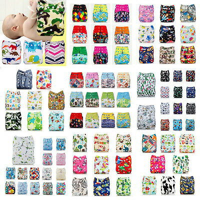 Washable Baby Pocket Nappy Cloth Reusable Diaper BAMBOO Diapers Cover Wrap
