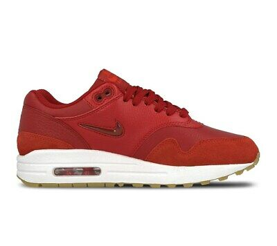WOMENS NIKE AIR MAX 1 PREMIUM SC Bordeaux Suede Trainers