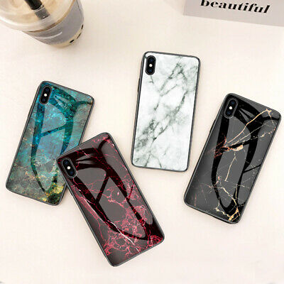 Luxury Marble Tempered Glass Case Cover For iPhone Xs Max XR X XS 7 8 6s Plus
