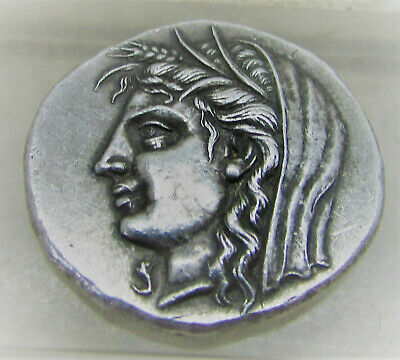 Unresearched Ancient Greek Ar Silver Tetradrachm Coin Weight 16.64 Greek (450 Bc-100 Ad) Coins & Paper Money
