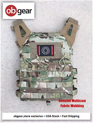 MODI (FLYYE) JPC Swift Tactical Plate Carrier Vest - Multicam- Fabric Webbing