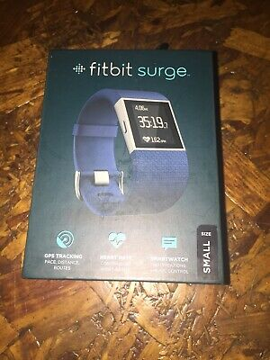 Fitbit Surge Fitness Super Watch - Small Blue