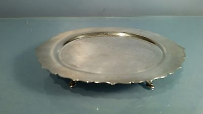1909 Edwardian  solid Silver stand for sauce boat or similar dining table items.