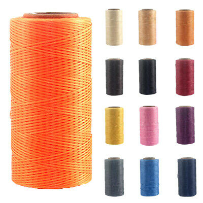 UK 260m 1mm Beading Jewelry Cord Wax Nylon String Findings Bracelet Thread Cord