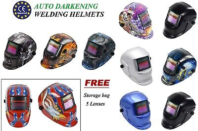 Welding Helmet Auto Darkening CE Solar Power Grinding Function Welder Face Mask