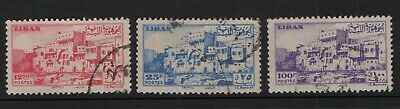 Lebanon 1947 selection to 100p (set missing 50p) SG338-39, 341 Used