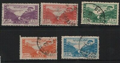 Lebanon 1947 Scenes selection to 25p SG343-46 Used