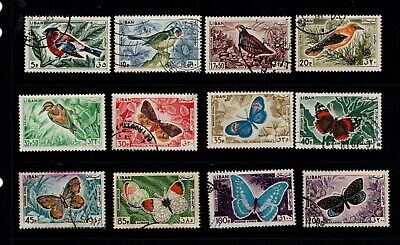 Lebanon 1965 Birds and Butterflies short set to 200p SG867-80 Used