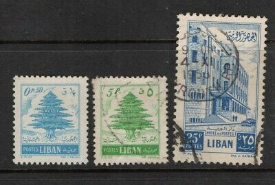 Lebanon 1953 Cedar and General Post Office SG559, 467, 471 Mint MH and Used