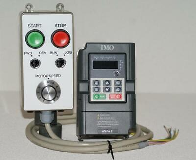 1hp/750W IMO XKL Inverter & Remote Control Station Package - Ideal for Lathe