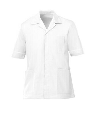 "* Mens G103 Healthcare Tunic White - 140cm / 55"" - Clearance"