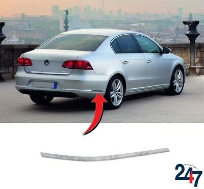 NEW GENUINE VW PASSAT B6 REAR BUMPER CHROME TRIM MOULDING RIGHT O//S 3C5807460A