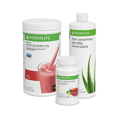KIT Colazione Equilibr. HERBALIFE 1x Formula1 +1x Infuso +1x Aloe GUSTI A SCELTA
