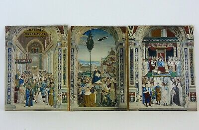 Three 19th Century Watercolours of Medieval Religious Scenes in Eastern Setting
