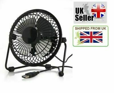 USB Powered Small Portable Mini Desk Table Cooling Electric Fan Black - TwitFish