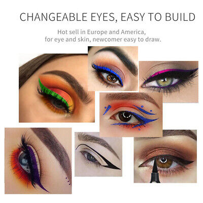 Waterproof Easy Eyeliner w/ Eye Wing Stamp Dual Ended Liquid For Beginners 15.5g