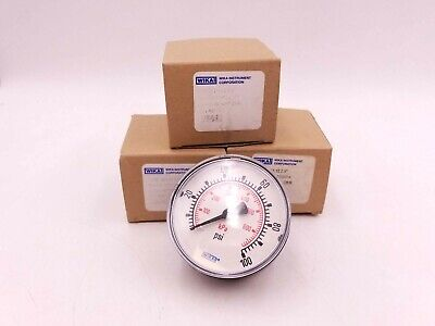 "Wika Instrument Corporation 9691141 Pressure PSI Gauge 0-100 1/4"" Connect NIB"