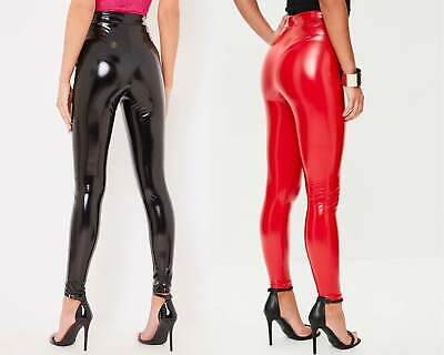 New Women Ladies Wet Look High Shine Vinyl PVC Legging - UK Size 8-14 New 8-26