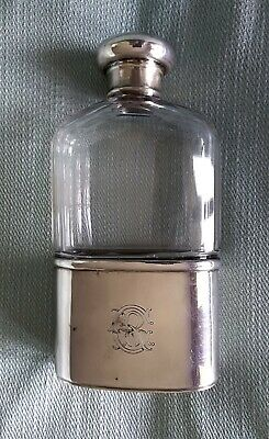 Fiasca Whisky Argento 925 Sterling Silver London 1900 Victorian Hip Flask Drew&s