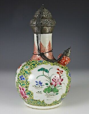 Antique Chinese Enameled Porcelain Kendi for the Persian Market - 18c is