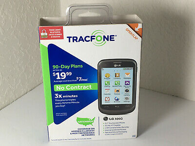 LG 306G - Black (TracFone) Basic Cellular Feature Phone KEEPS
