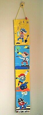 Pirate Wooden Height chart for children wall hanging