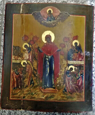 Antike russische  Ikone 37cm x 31,5cm  Antique russian Icon  Icone Ikona Icona
