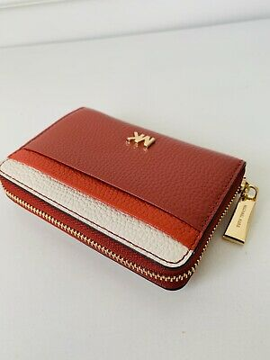 2424f2ec97a10a NWT Michael Kors Money Pieces Zip Around Card Case Coin Purse Terracotta  Leather
