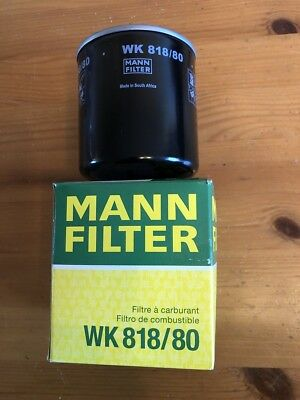 Genuine Mann Fuel Filter WK 818/80 ( Brand New) X4