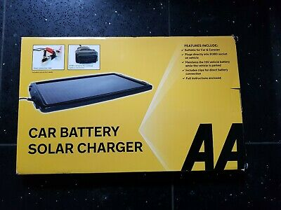 AA Essentials 12V solar Powered Car Battery Charger Solar Panel OBD Version