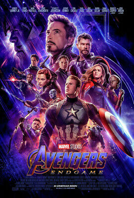 AVENGERS ENDGAME MOVIE POSTER 2 Sided ORIGINAL INTL FINAL 27x40 BRIE LARSON