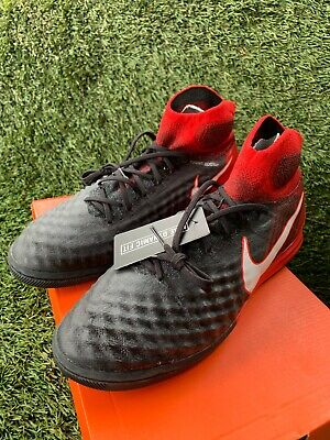 95d03cf59 Nike MagistaX Proximo II IC DF Indoor Soccer Black White Red Mens 10.5