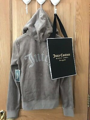 BNWT JUICY COUTURE hoodie  Size Small Beige velour 100% Genuine BNWT