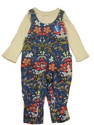 Next Baby Girls' Floral Dungarees Set Various Size Fast Shipping Uk Seller