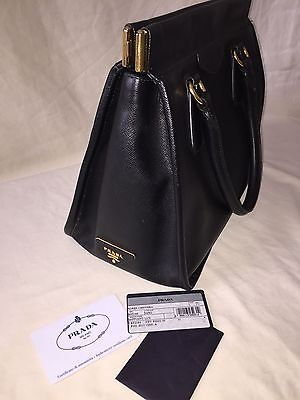 b63f1aa91016 PRADA SAFFIANO LEATHER Continental Oro Wallet brown VERY GOOD COND ...