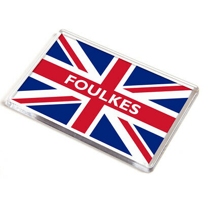 DOOR PLAQUE - Foulkes - Union Jack Flag - Surname Gift